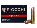 Fiocchi Shooting Dynamics Ammunition 22 Long Rifle 40 Grain Plated Lead Round Nose Box of 500 (10 Boxes of 50)