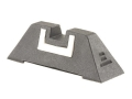 "Product detail of Glock Square Rear Sight 7.3mm .287"" Height Polymer Black White Outline"