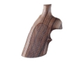 Hogue Fancy Hardwood Conversion Grips with Top Finger Groove S&W N-Frame Round to Square Butt Checkered