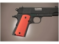 Hogue Extreme Series Grip 1911 Officer Aluminum Matte Red