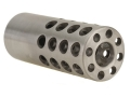 Vais Muzzle Brake 13/16&quot; 338 Caliber 9/16&quot;-32 Thread .812&quot; Outside Diameter x 2&quot; Length Stainless Steel