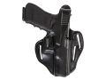 "Bianchi 77 Piranha Belt Holster Right Hand S&W J-Frame 2"" Barrel Leather Black"