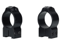 Warne 30mm Permanent-Attachable Ring Mounts Tikka Gloss High