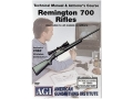 "Product detail of American Gunsmithing Institute (AGI) Technical Manual & Armorer's Course Video ""Remington 700 Rifles"" DVD"