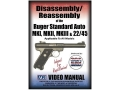 "American Gunsmithing Institute (AGI) Disassembly and Reassembly Course Video ""Ruger Mark 1, Mark 2 and Mark 3 .22 Pistols"" DVD"