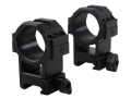 Leapers UTG 30mm Max Strength Tactical 6-Hole Quick Detachable Twist Lock Picatinny-Style Rings Matte