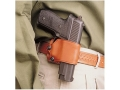 DeSantis Yaqui Slide Belt Holster Right Hand Large Frame Single Action Semi-Automatic Leather Tan