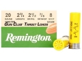 "Product detail of Remington Gun Club Target Ammunition 20 Gauge 2-3/4"" 7/8 oz #8 Shot"