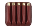 Boyt Ammo Wallet Rifle Ammunition Carrier 5-Round 243 Winchester to 30-06 Springfield Leather Brown