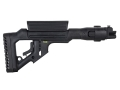Mako Tactical Side Folding Buttstock with Adjustable Cheek Rest AK-47 Stamped Receivers Synthetic Black