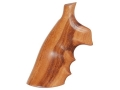 Hogue Fancy Hardwood Grips with Finger Grooves S&W N-Frame Square Butt Goncalo Alves