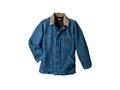 Dickies Denim Zip Front Chore Coat Cotton Stonewashed