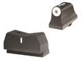XS 24/7 Express Suppressor Height Night Sight Set Glock 20, 21, 29, 30, 30S, 37, 41 Steel Tritium Dot Front, White Stripe Rear