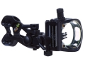 Apex Gear Bone Collector 4 Light 4-Pin Bow Sight .019&quot; to .010&quot; Diameter Pin Fixed Bracket Ambidextrous Aluminum Black