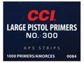 CCI Large Pistol APS Primers Strip #300 Case of 5000 (5 Boxes of 1000)
