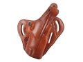 El Paso Saddlery Dual Duty 3 Slot Outside the Waistband Holster Right Hand Springfield XD 9/40 5&quot; Leather Russet Brown