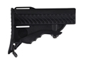 DPMS Pardus Stock Assembly 6-Position Commercial Diameter Collapsible AR-15 Synthetic Black