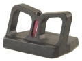 NECG See-Thru Rear Sight Blade Only Provides a .670&quot; Height Fiber Optic Red