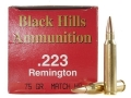 Product detail of Black Hills Ammunition 223 Remington 75 Grain Match Hollow Point Box of 50