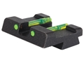 HIVIZ Rear Sight Springfield XD, XDM Steel Fiber Optic Green