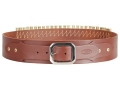 Hunter Adjustable Cartridge Belt 357, 38  Caliber Leather Antique Brown