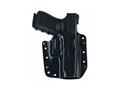 Galco Corvus Convertible Belt and inside the Waistband Holster Right Hand Glock 19,23,32, FNH FNS Kydex Black