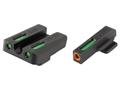 TRUGLO TFX Pro Sight Set Kahr P9, PM9, P380 Tritium / Fiber Optic Green with Orange Front Dot Outline