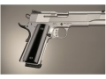 Hogue Extreme Series Grips 1911 Government, Commander Ambidextrous Safety Cut Brushed Aluminum Gloss