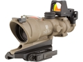 Trijicon ACOG TA01-ECOS-RMR Rifle Scope 4x 32mm Dual Illuminated Crosshair 223 Remington Reticle with 3.25 MOA RMR Red Dot Sight, Iron Sight and ARMS Throw Lever Flattop Mount Dark Earth