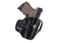 Bianchi 57 Remedy Outside the Waistband Holster Right Hand Glock 26, 27, 33 Leather Black