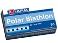 Lapua Polar Biathlon Ammunition 22 Long Rifle 40 Grain Lead Round Nose Box of 50