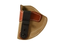 DeSantis SOF-TUCK Inside The Waistband Holster Left Hand Glock 42, KAHR CW9, K9, P9, P40, MK40 Leather Brown