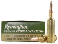 Remington Premier Ammunition 7mm Remington Short Action Ultra Magnum 160 Grain Pointed Soft Point Core-Lokt Ultra Bonded Box of 20