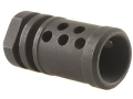 DPMS Muzzle Brake Panther with 10 Holes 1/2&quot;-28 Thread AR-15 Steel Matte