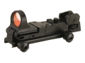 C-More Tactical Reflex Sight 8 MOA Red Dot with Adjustable Rear Sight and Click Switch AR-15 Flat-Top Mount Polymer Matte