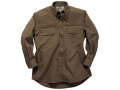 Boyt Men's Shumba Dual Pad Safari Shirt Long Sleeve Cotton Green Large 42-44