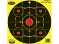 "Birchwood Casey Dirty Bird Chartreuse 12"" Bullseye Targets Package of 4"