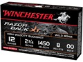 "Winchester Razorback XT Ammunition 12 Gauge 2-3/4"" Buffered 00 Plated Buckshot 9 Pellets Box of 5"