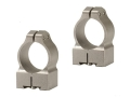 Warne 1&quot; Permanent-Attachable Ring Mounts Tikka Silver Medium