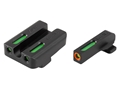 TRUGLO TFX Pro Sight Set Springfield XD, XDM, XDS Tritium / Fiber Optic Green with Orange Front Dot Outline
