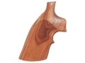 Hogue Fancy Hardwood Grips with Top Finger Groove S&amp;W K, L-Frame Square Butt Checkered Pau Ferro