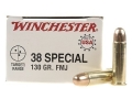 Winchester USA Ammunition 38 Special 130 Grain Full Metal Jacket Box of 50