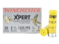 "Winchester Xpert Upland Game and Target Ammunition 20 Gauge 2-3/4"" 3/4 oz #7 Non-Toxic Steel Shot Box of 25"