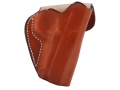 DeSantis Mini Scabbard Outside the Waistband Holster Right Hand 1911 Officer Leather Tan
