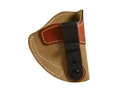 Product detail of DeSantis SOF-TUCK Inside The Waistband Holster Right Hand KAHR CW9, K9, P9, P40, MK40 Leather Brown