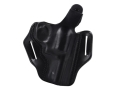"DeSantis Thumb Break Scabbard Belt Holster Right Hand Smith & Wesson K-Frame 10, 12, 13, 15, 19, 64, 65, 66 3"" Barrel Leather Black"