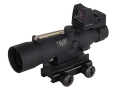 Trijicon ACOG TA33-RMR BAC Rifle Scope 3x 30mm Dual-Illuminated Amber Horseshoe Dot 223 Remington Reticle with 3.25 MOA RMR Red Dot Sight and TA60 Flattop Mount Matte