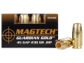 Product detail of Magtech Guardian Gold Ammunition 45 GAP 230 Grain Jacketed Hollow Point Box of 20