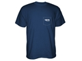 Yeti Built for the Wild Pocket T-Shirt Short Sleeve Cotton and Polyester Navy