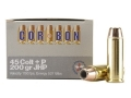 Cor-Bon Self-Defense Ammunition 45 Colt (Long Colt) +P 200 Grain Jacketed Hollow Point Box of 20